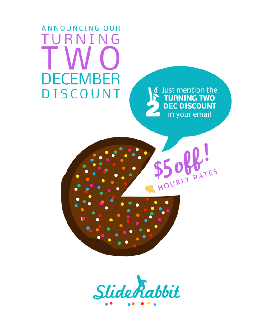 SlideRabbit Turning Two | Presentation Design Discount