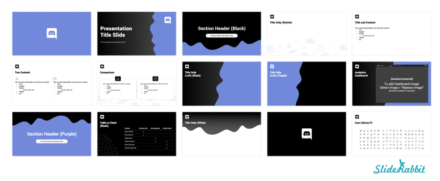 DashboardGrid Google Slides Template Design